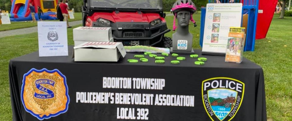 Bike Safety at Boonton Twp. Family Fun Night
